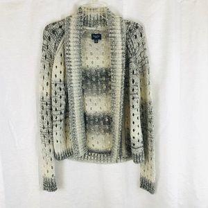 AMERICAN EAGLE Crochet Knit Open Cardigan Sweater